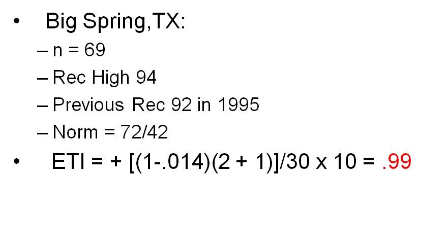 Big Spring Record