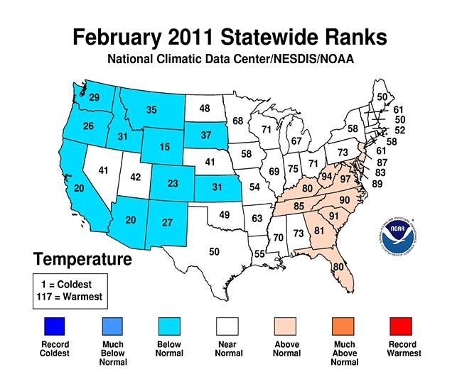 FEB 2011 Average Rankings