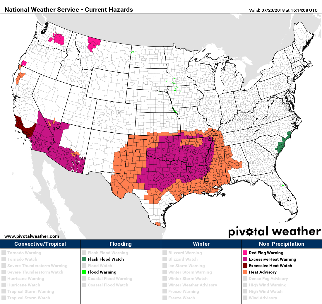 Extreme Temperature Diary- July 20, 2018/ Hot Topic: Texas ...
