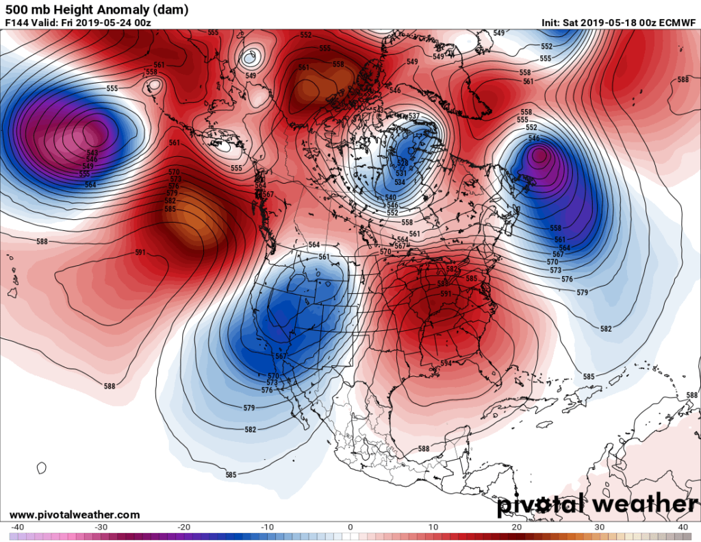 Extreme Temperature Diary-May 18, 2019/ First Heat Wave For United