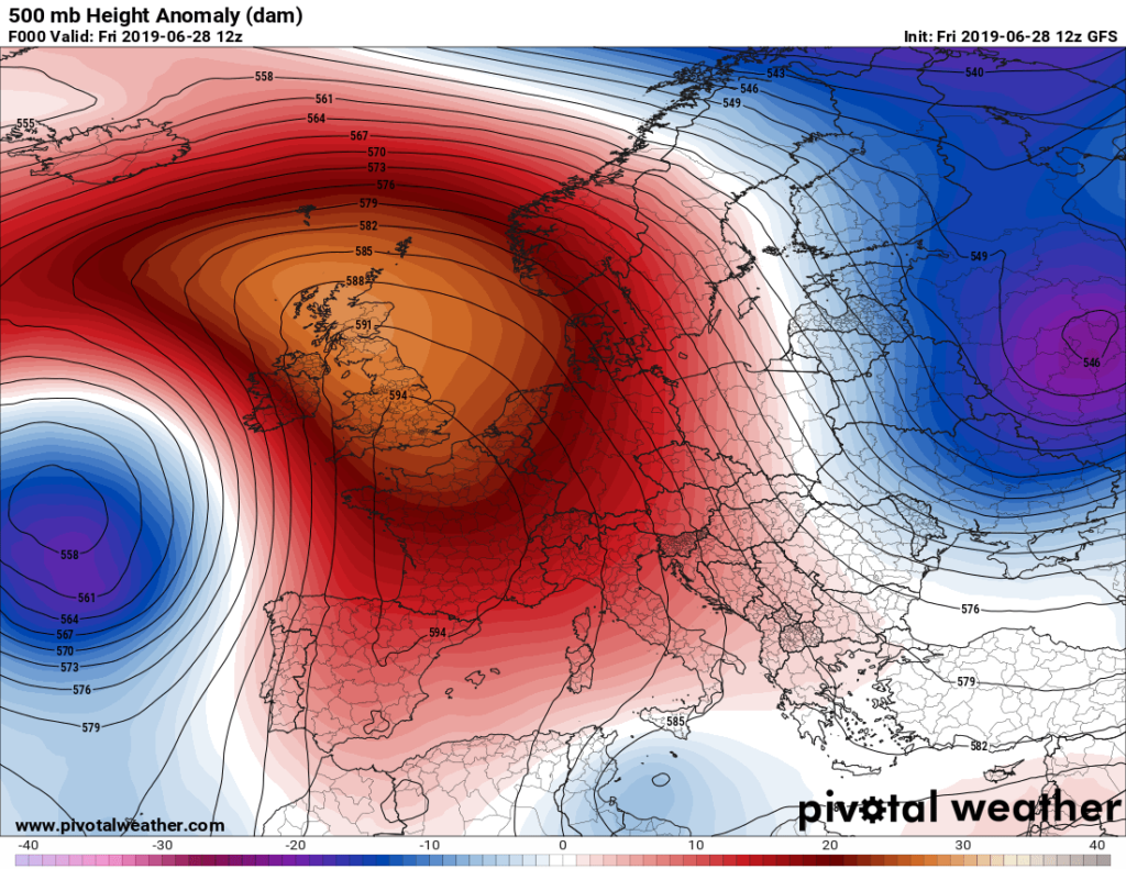 Extreme Temperature Diary-June 28, 2019/ Historic European Heat Wave