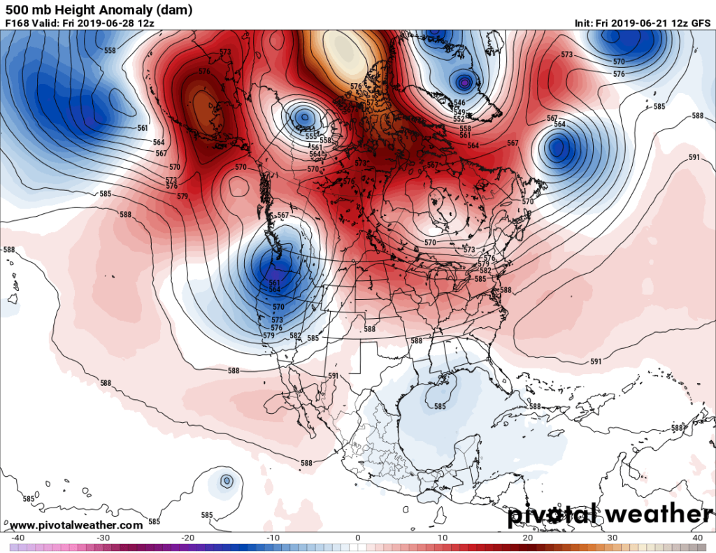 Extreme Temperature Diary-June 21, 2019 / Hot Spots Starting